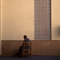 Meditation in mosque