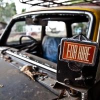 Mumbai, abandoned taxi