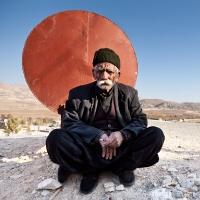Kurdish man and red circle