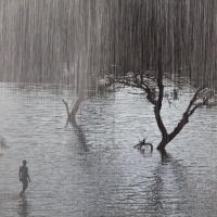 Man under the rain, India